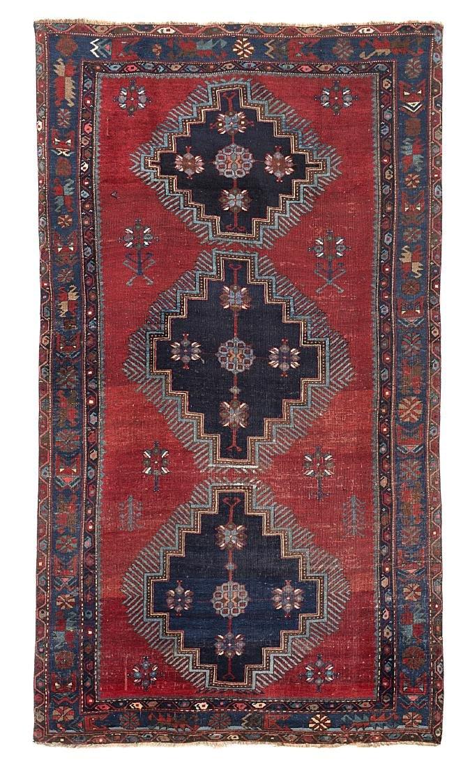 Tappeto Kazak, Caucaso, inizio secolo XX. Disegno a tre