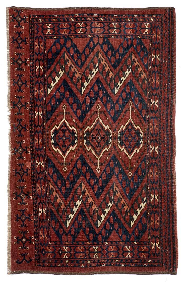Tappeto Ersari, Chuval, Turkestan Occidentale, secolo