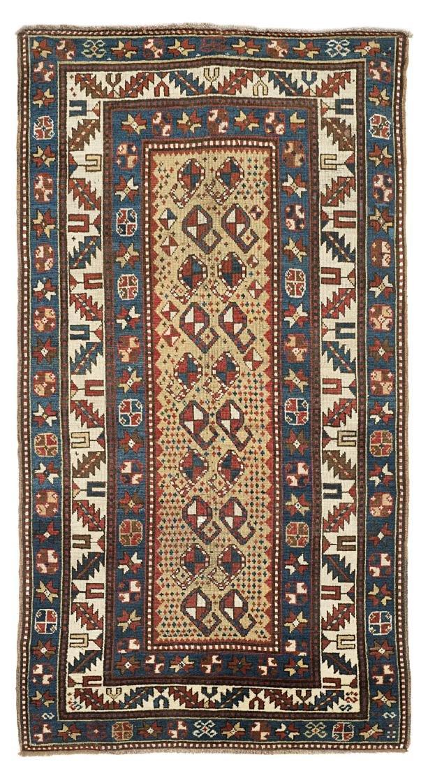 Tappeto Kazak, Caucaso, fine secolo XIX. Il campo