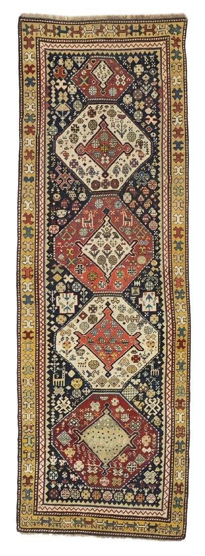 Tappeto Schirwan, Caucaso, fine secolo XIX. Disegno con
