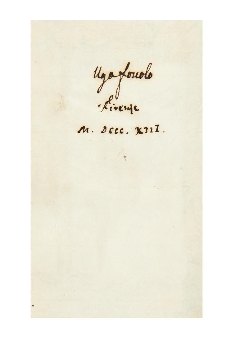 [FOSCOLO, Ugo (1778-1827)] - Francesco PETRARCA