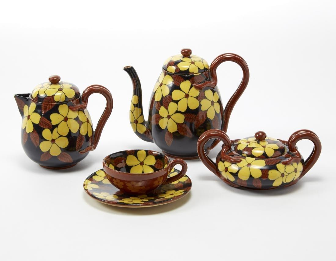 La Fenice Servizio da caffè in ceramica con decoro a
