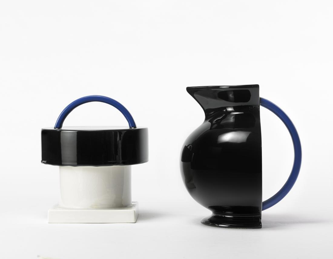 Marco Zanini (1954)Una biscottiera in ceramica smaltata