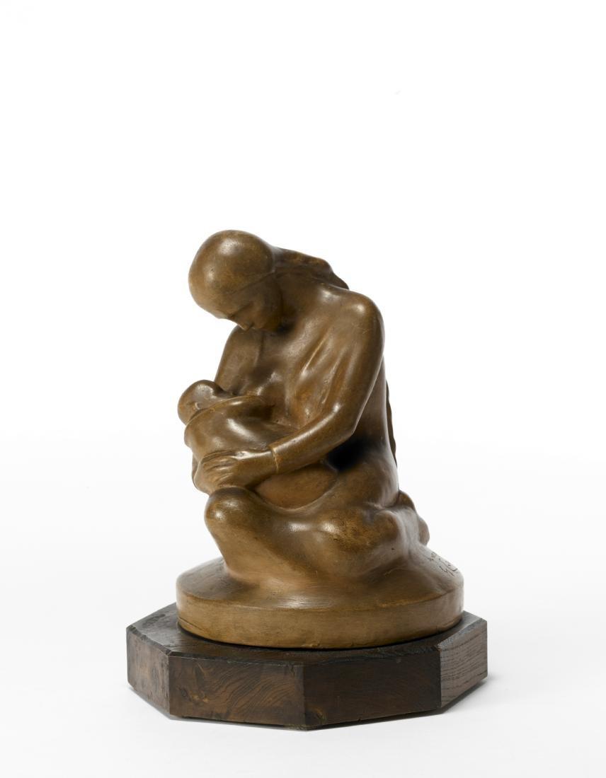 "Giuseppe Enrini (1899)""Mammina""Scultura in terracotta"