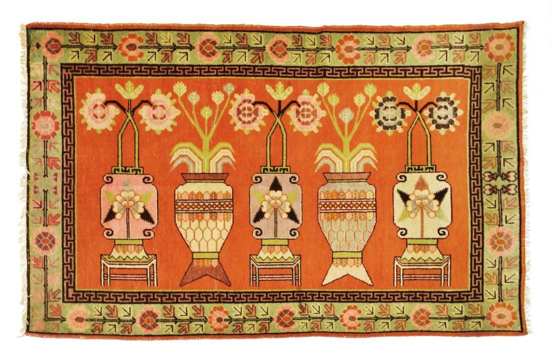 Tappeto Samarkanda. Turkestan orientale, inizio secolo