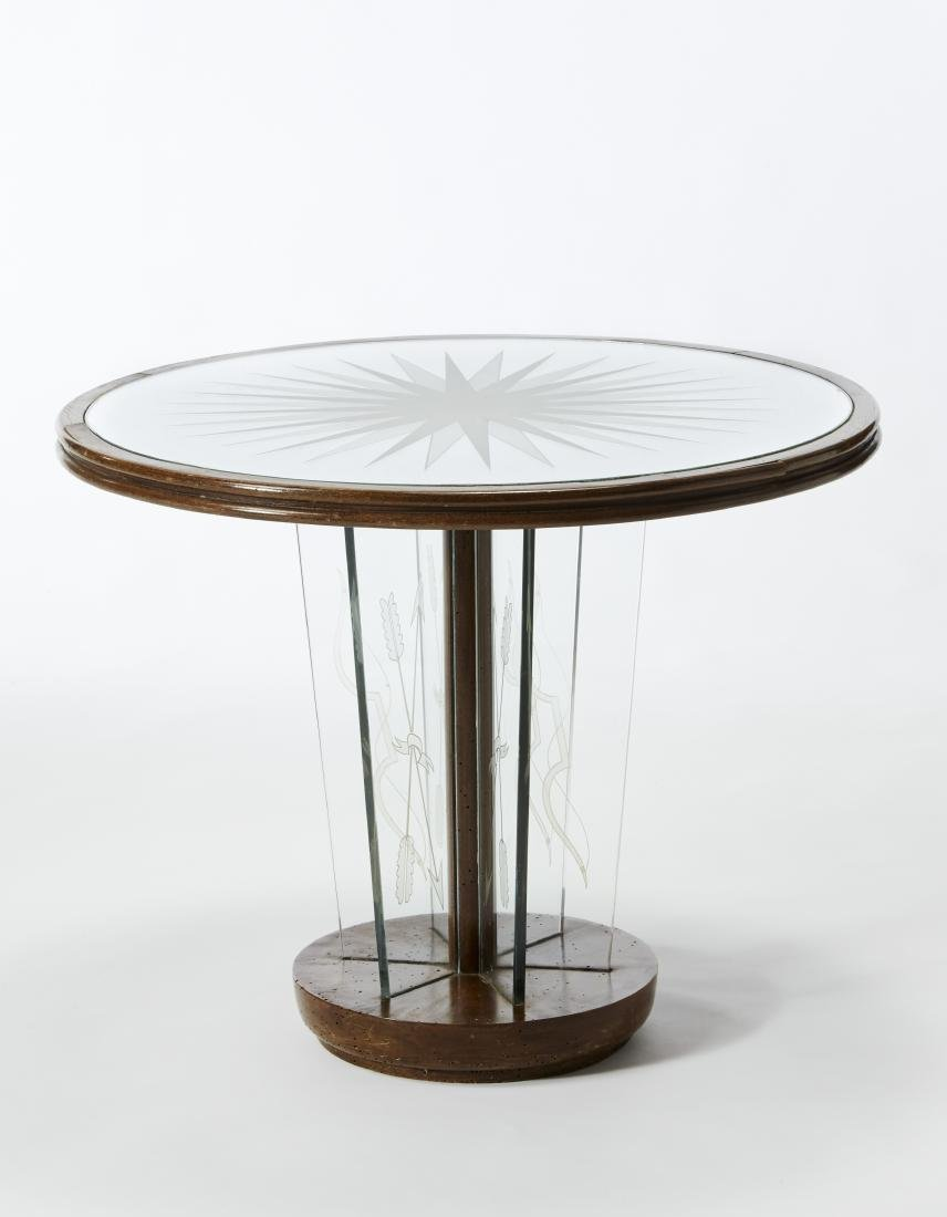 Luigi Brusotti (1926)(Attributed)Round coffee table