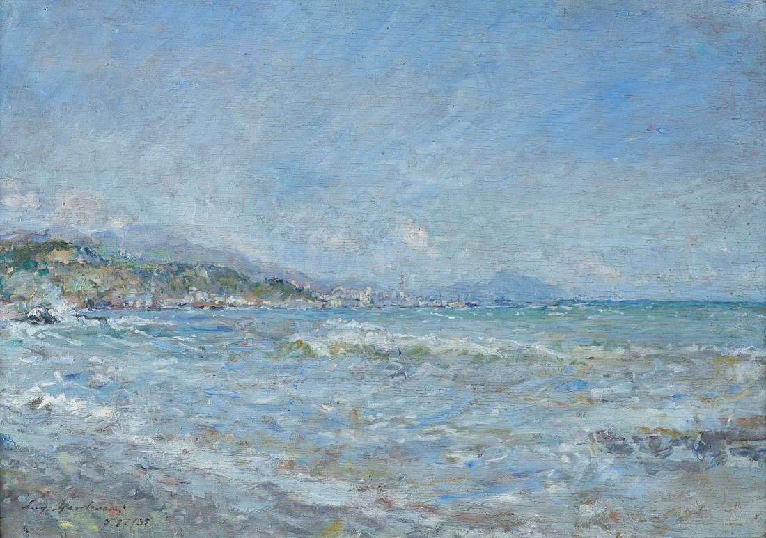"""Luigi Mantovani (Milano 1880 - Milano 1957)""""Il porto di"""
