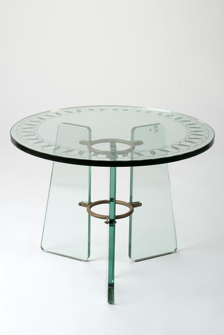 Luigi Brusotti (1926)(Attributed)Tripod coffee table