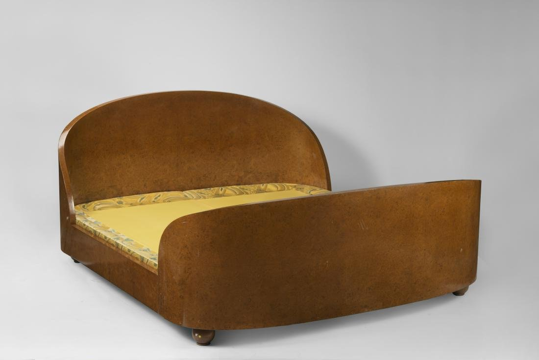 A bed in french art déco style. 20th century.
