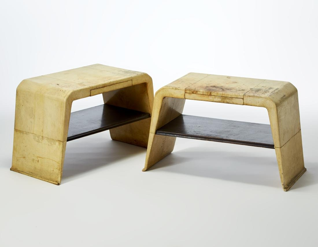 Valzania Coppia di comodini in legno completamente