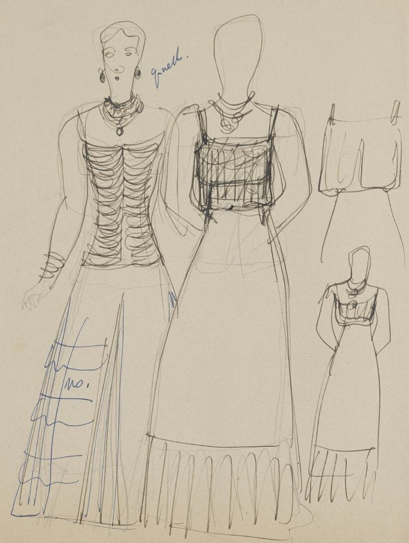 Gio Ponti (Milano 1891 - Milano 1979)Studio per costumi