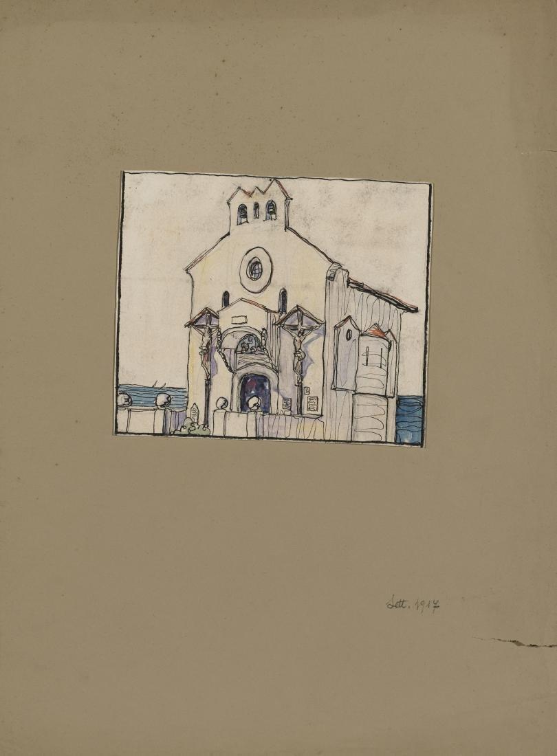 """Gio Ponti (Milano 1891 - Milano 1979)""""La chiesa di"""