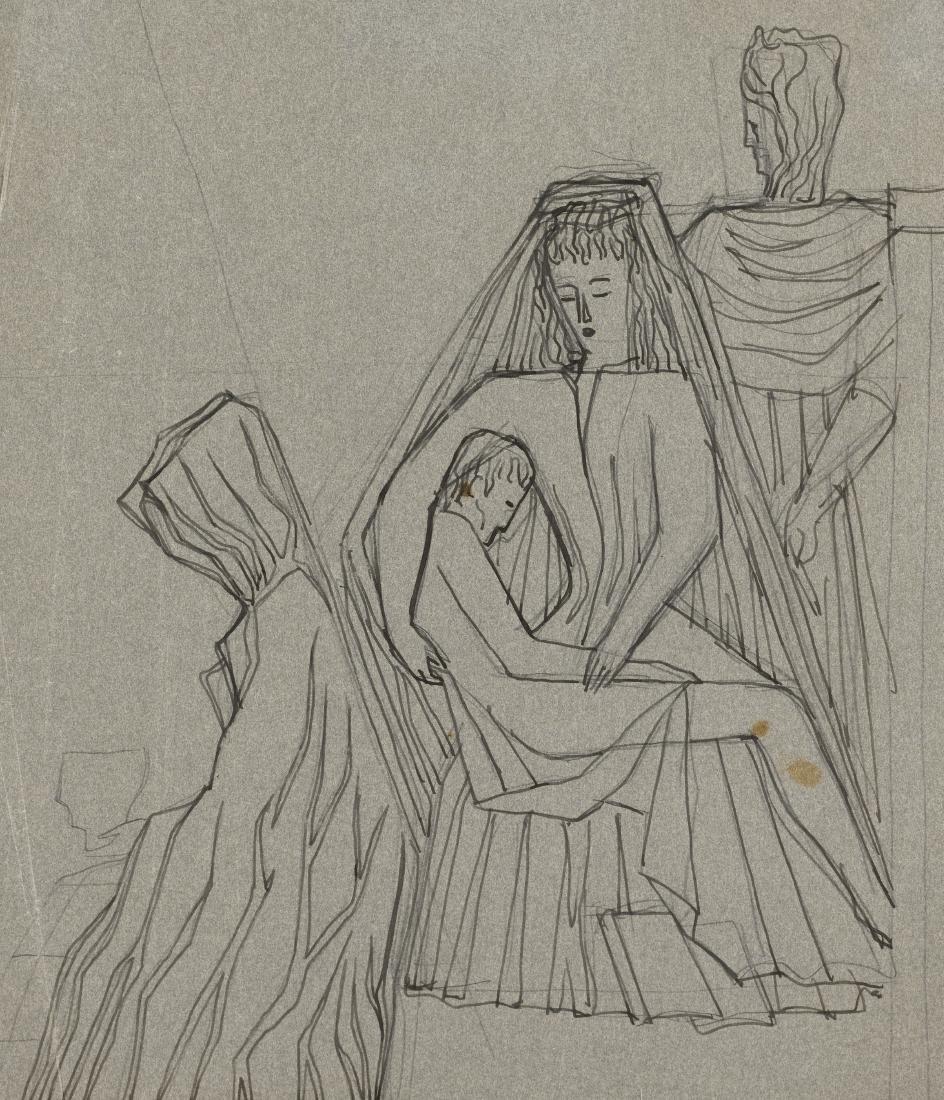 "Gio Ponti (Milano 1891 - Milano 1979)""Allegoria""Studio"
