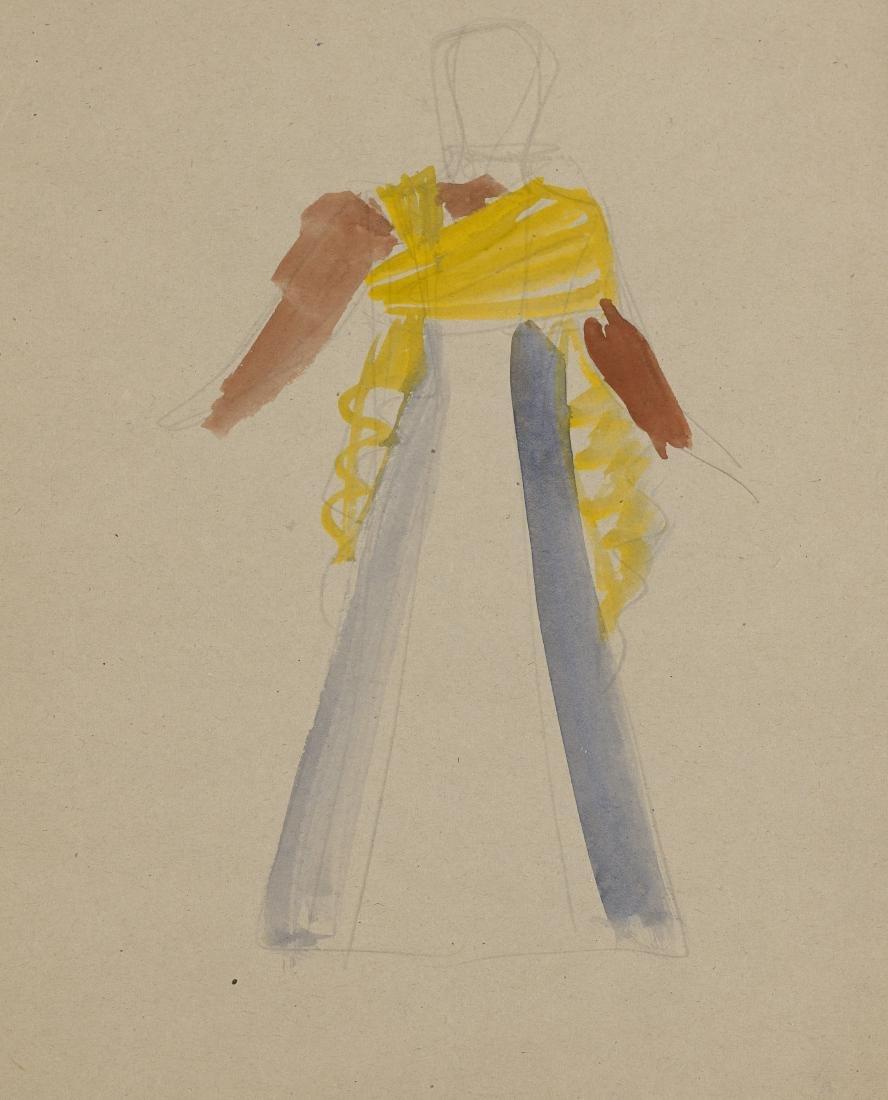 Gio Ponti (Milano 1891 - Milano 1979)Studio per costume