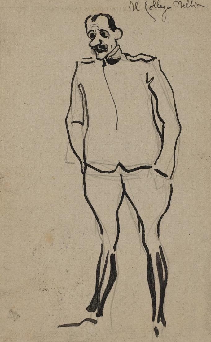 """Gio Ponti (Milano 1891 - Milano 1979)""""Il collega"""