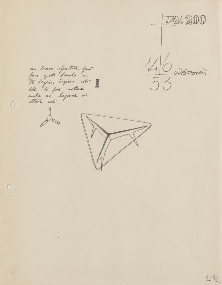 Gio Ponti (Milano 1891 - Milano 1979)Cinque studi per