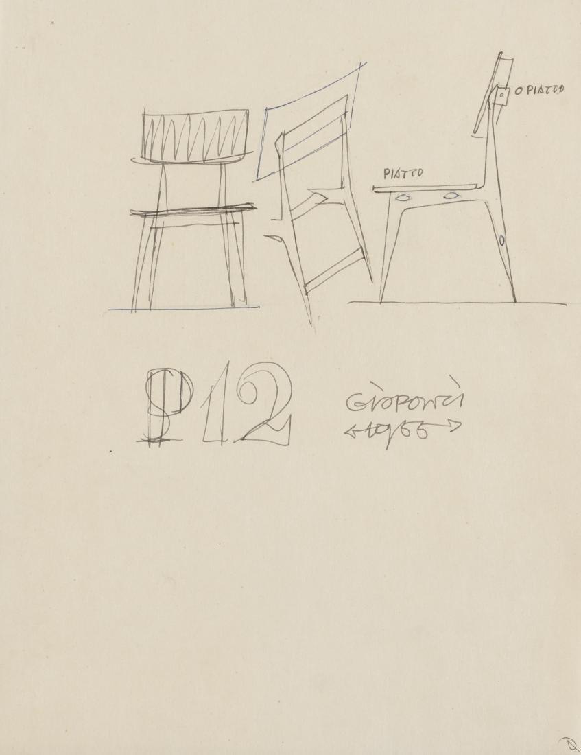 Gio Ponti (Milano 1891 - Milano 1979)Cinque studi per - 2