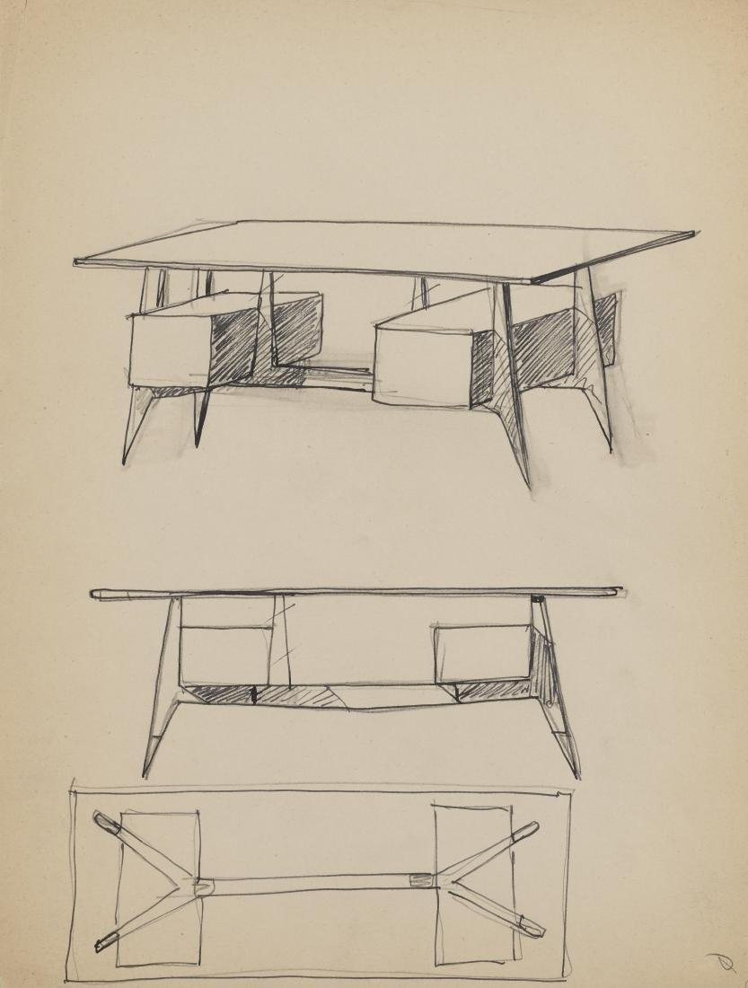 Gio Ponti (Milano 1891 - Milano 1979)Cinque studi per - 3