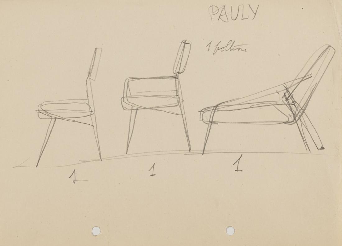 Gio Ponti (Milano 1891 - Milano 1979)Cinque studi per - 4