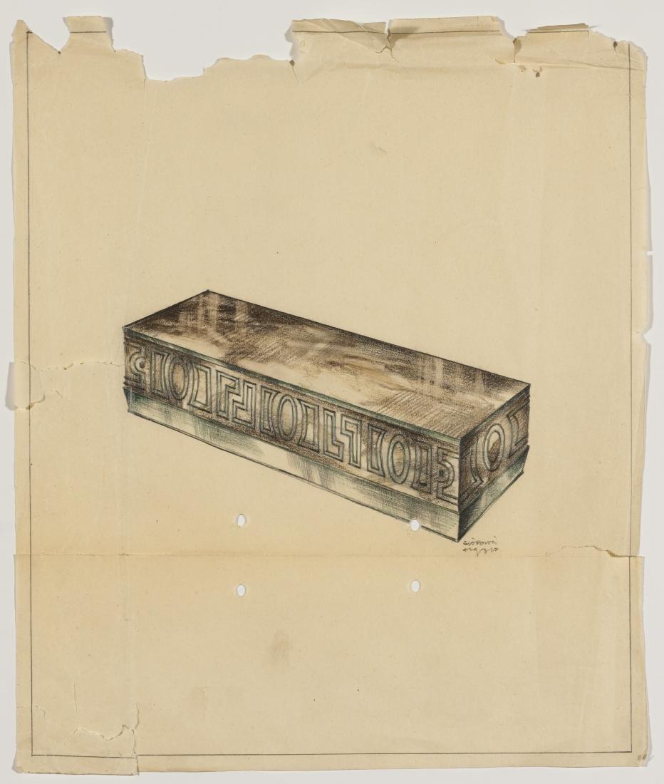 Gio Ponti (Milano 1891 - Milano 1979)Disegno per una
