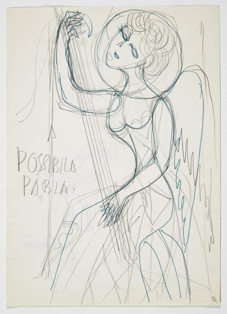 "Gio Ponti (Milano 1891 - Milano 1979)""Angelo - donna"