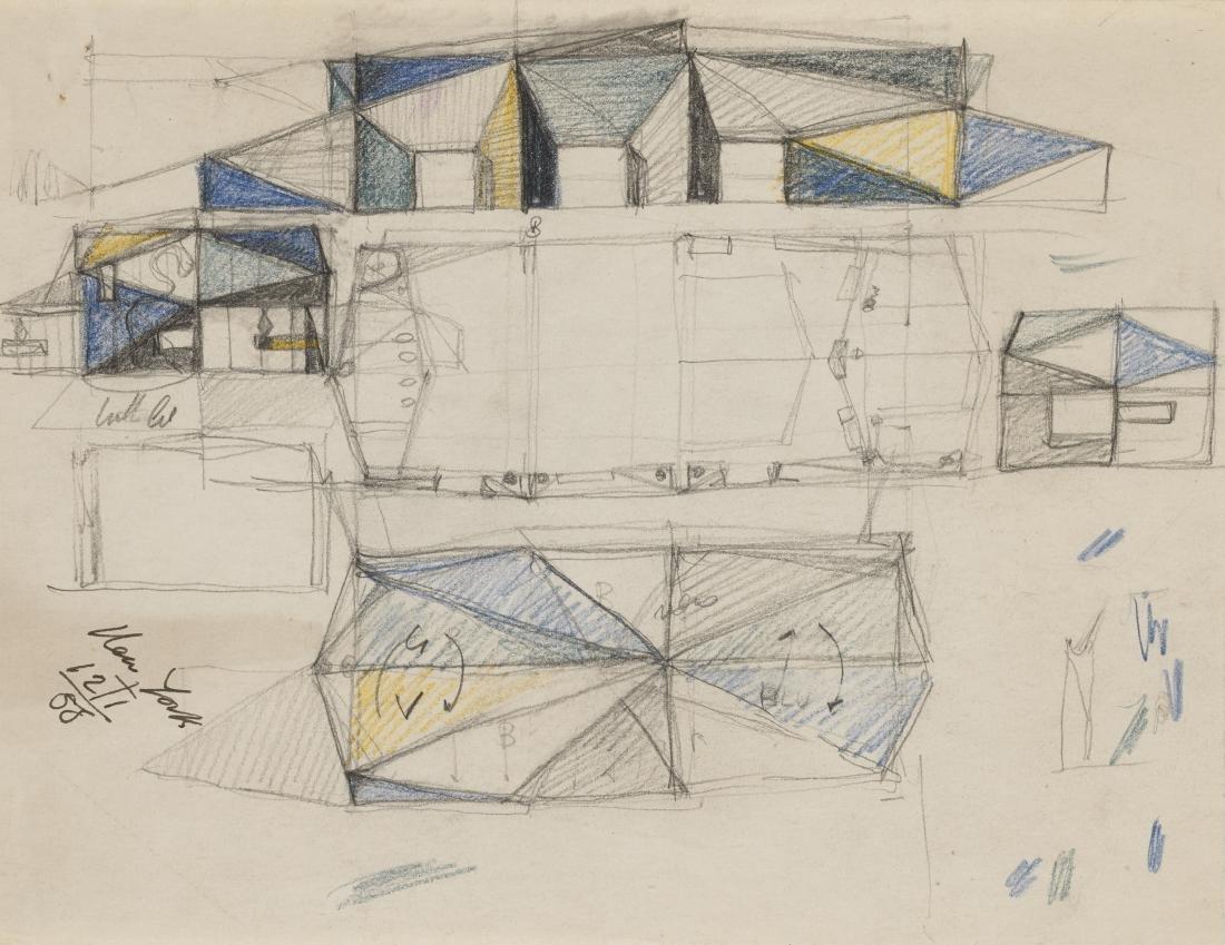 Gio Ponti (Milano 1891 - Milano 1979)Schizzo in