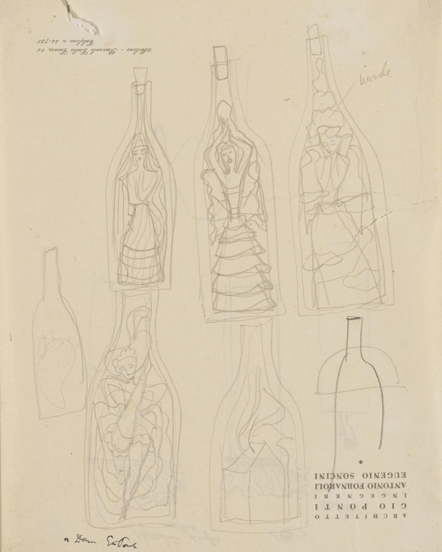 Gio Ponti (Milano 1891 - Milano 1979)Studio di sette