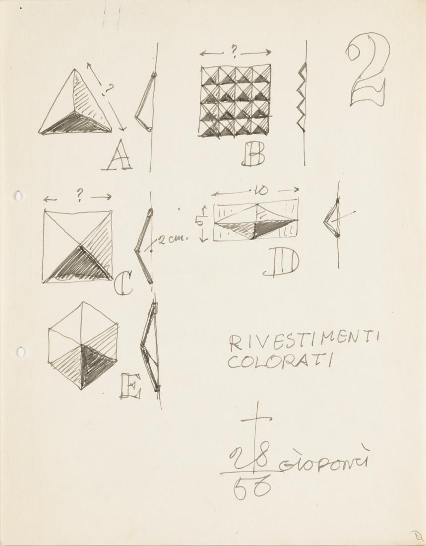 Gio Ponti (Milano 1891 - Milano 1979)Lotto di sette
