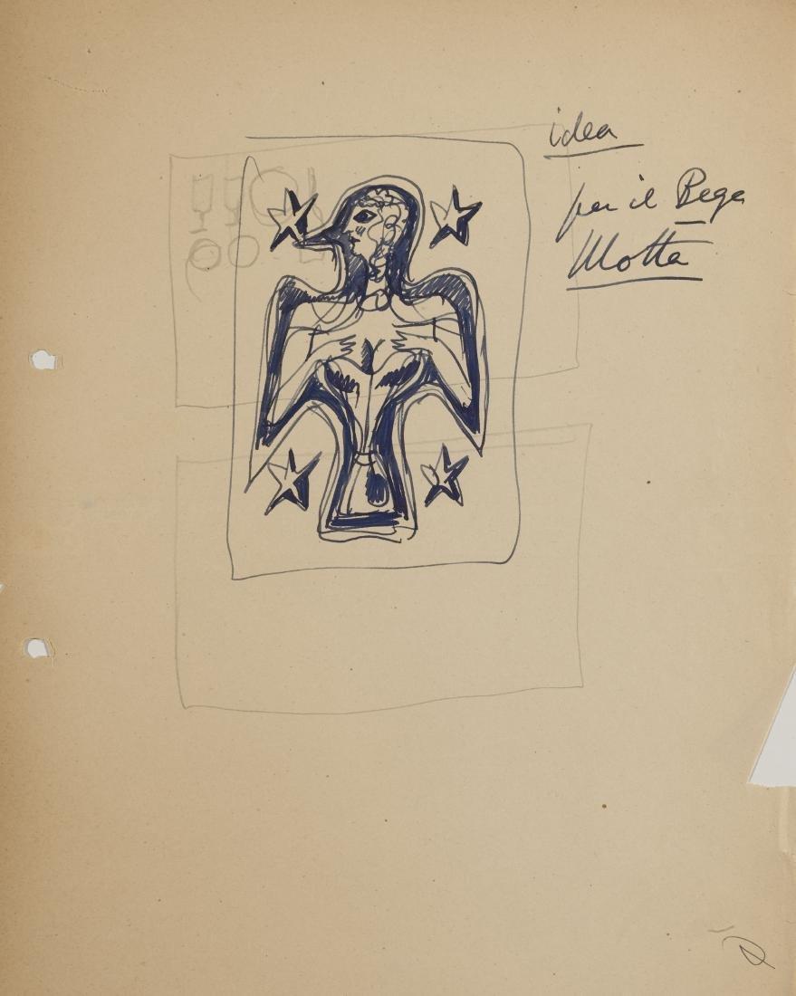 """Gio Ponti (Milano 1891 - Milano 1979)""""Idea per il Bega"""