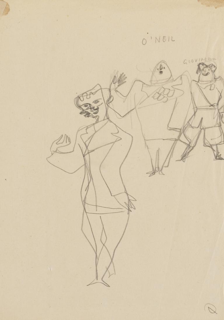 Gio Ponti (Milano 1891 - Milano 1979)Due studi per