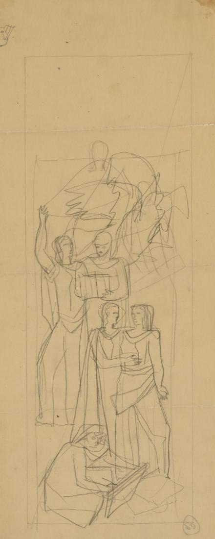 Gio Ponti (Milano 1891 - Milano 1979)Figure allegoriche
