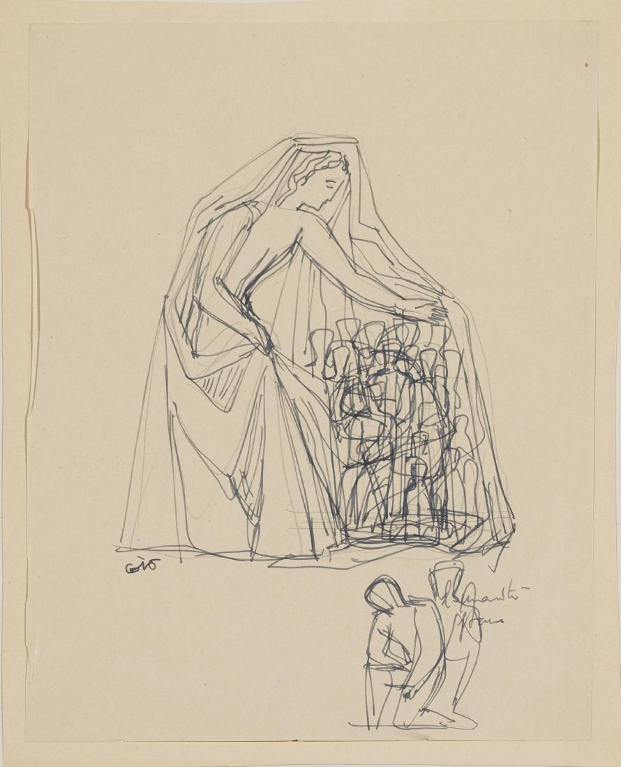 """Gio Ponti (Milano 1891 - Milano 1979)""""Madonna del"""