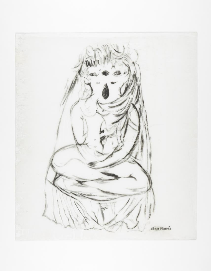 """Gio Ponti (Milano 1891 - Milano 1979)""""Le gemelle""""Figura"""