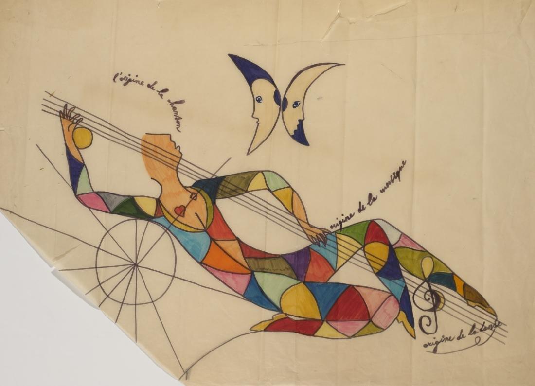 """Gio Ponti (Milano 1891 - Milano 1979)""""L'origine de la"""
