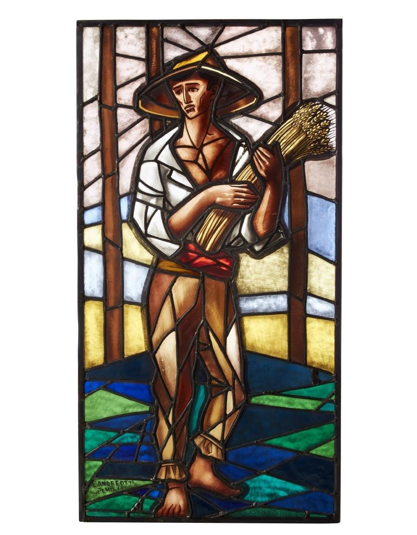 Pietro Chiesa (Attribuito)Vetrata legata a piombo