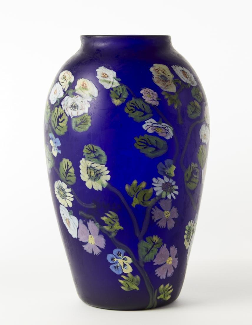 Artisti Barovier Grande vaso in vetro soffiato a