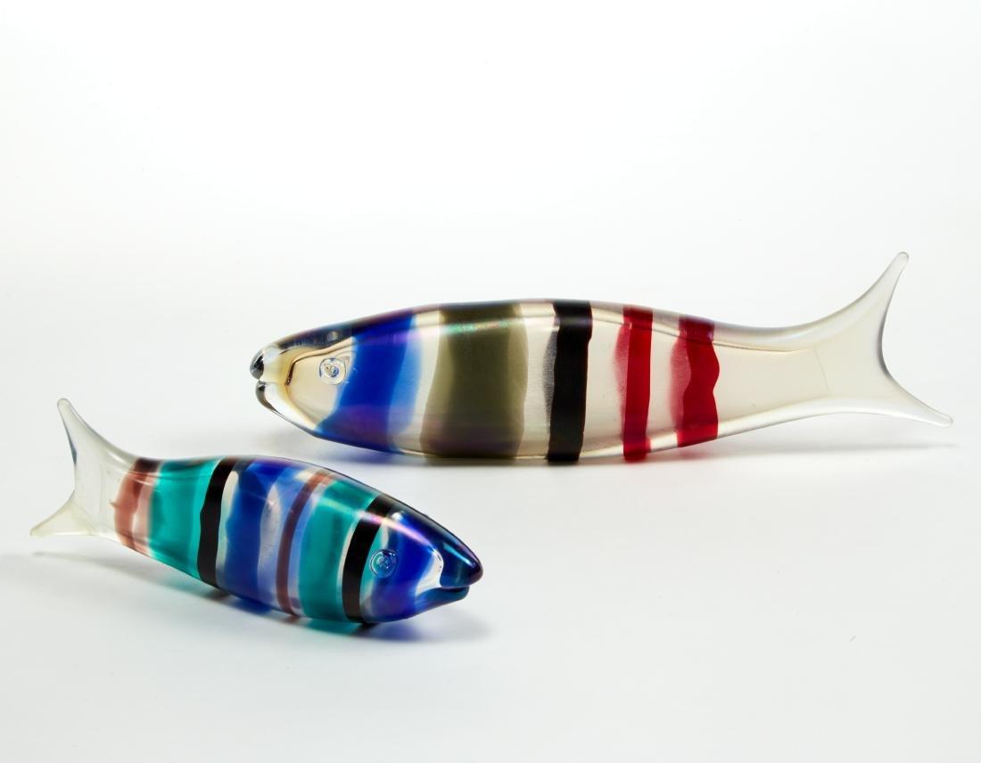 Ken Scott (Usa 1906 - 1993)Due pesci in vetro soffiato