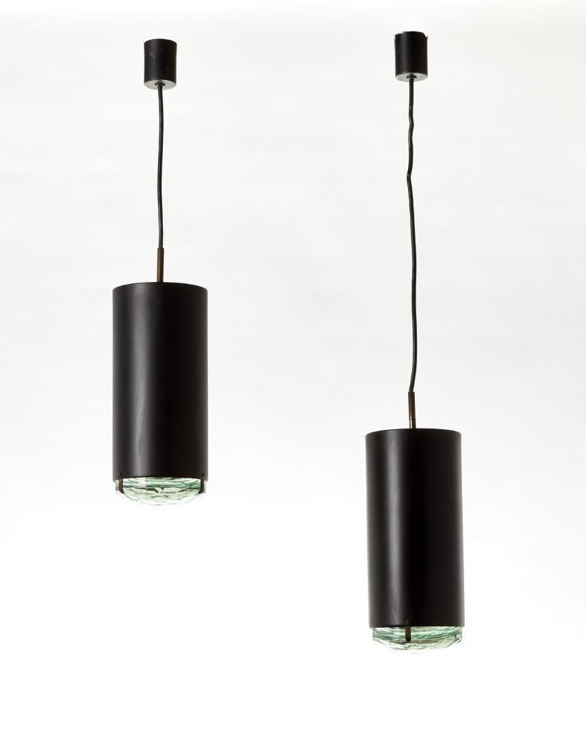 Lumi (Attribuito)Due lampade a sospensione. Milano,