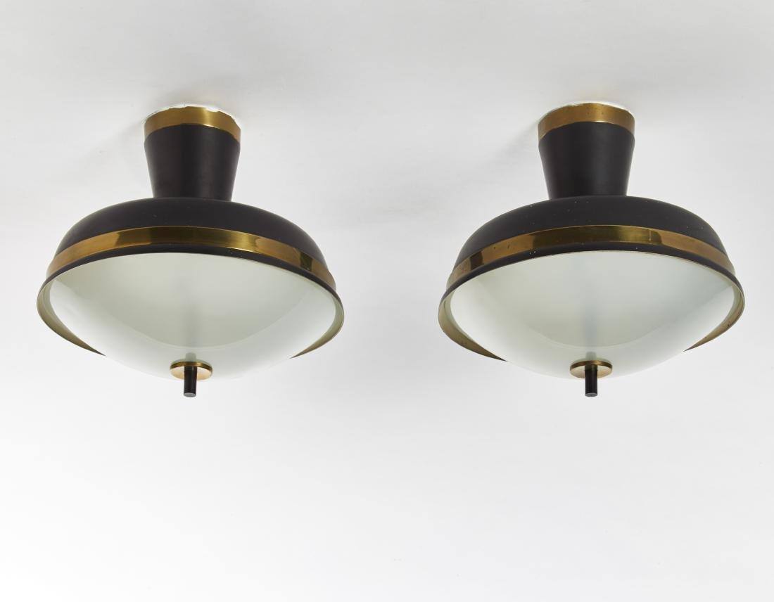 Oscar Torlasco Due lampade a plafone. Produzione Lumi,