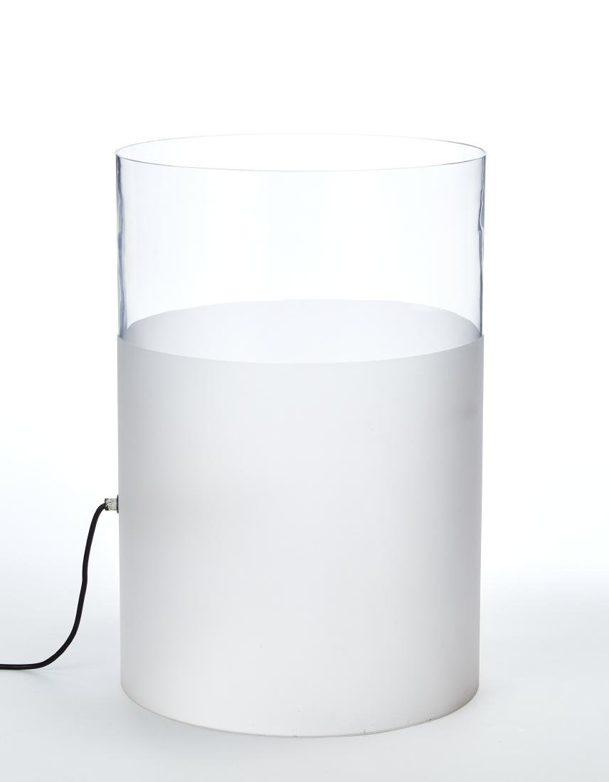 Guido Rosati Lampada da tavolo cilindrica modello