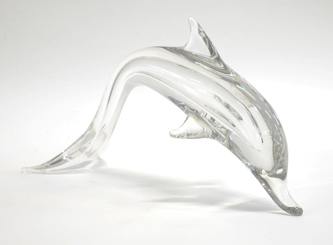 """Vilca Delfino in vetro Daum France.""""Delfino""""Scultura"""