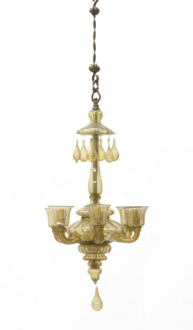 Manifattura di Murano Lampadario a sei luci in vetro