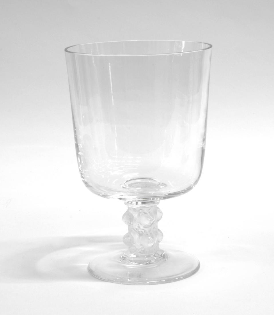 Lalique Coppa in vetro trasparente incolore con manico