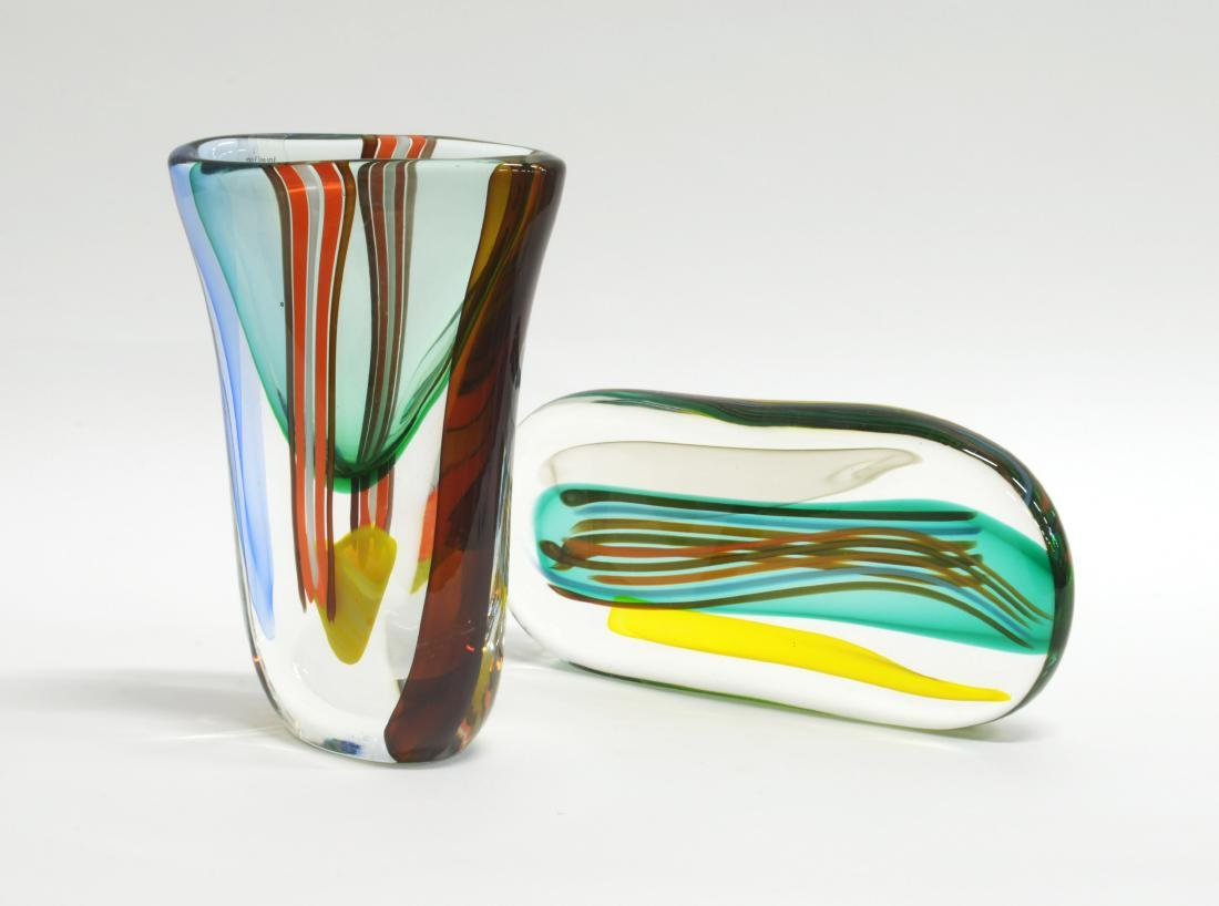Vetreria Navagero Lotto composto da un vaso e una