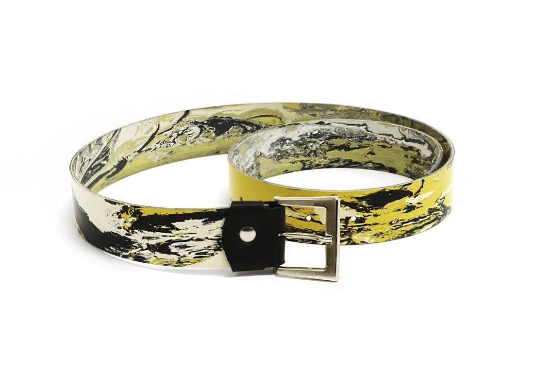 Cintura omaggio a Gio Ponti, realizzata con il linoleum