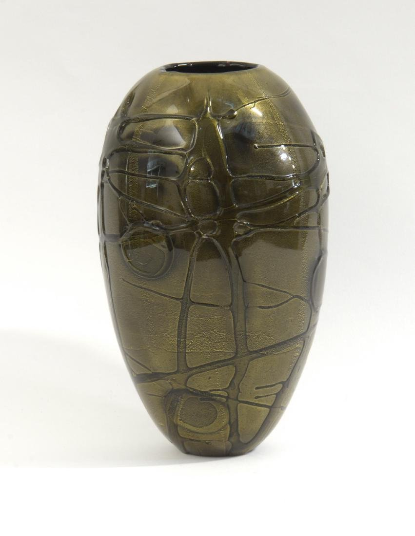 Seguso Viro Vaso ovoidale in vetro soffiato ametista