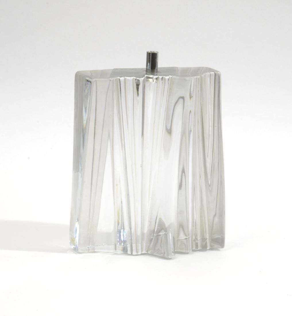 Daum Lampada con base in vetro trasparente e paralume.