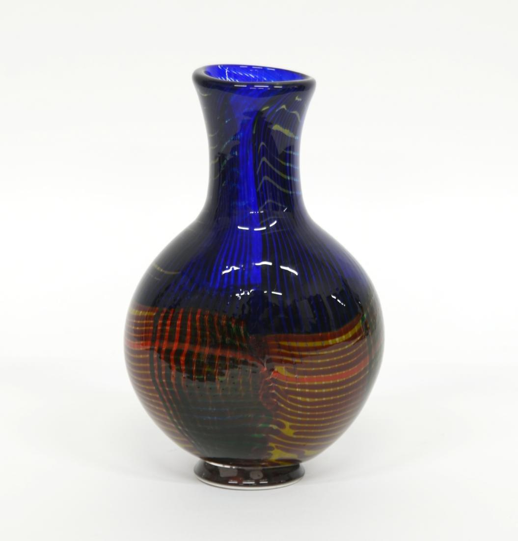 Manifattura di Murano Vaso in vetro soffiato a fasce