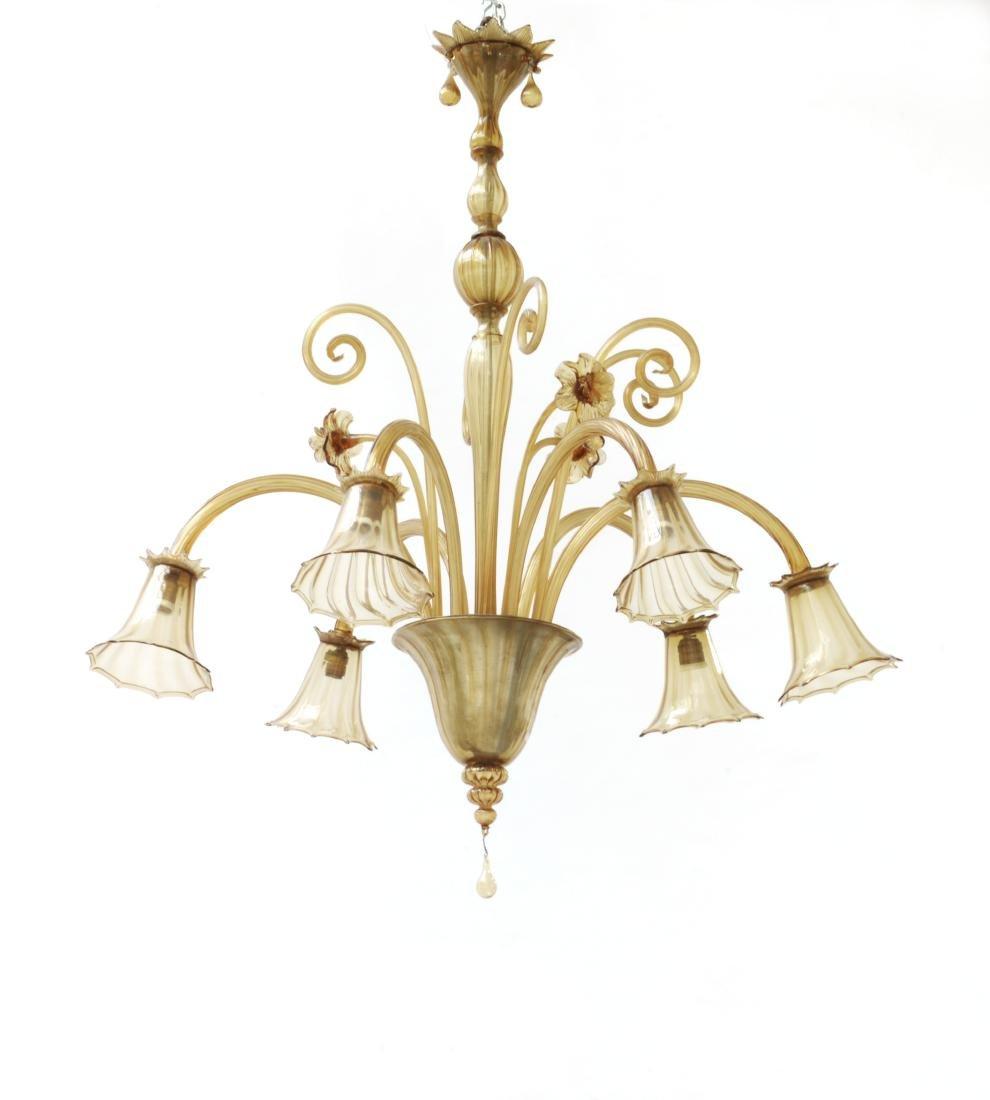Manifattura di Murano Lampada a sospensione a sei luci