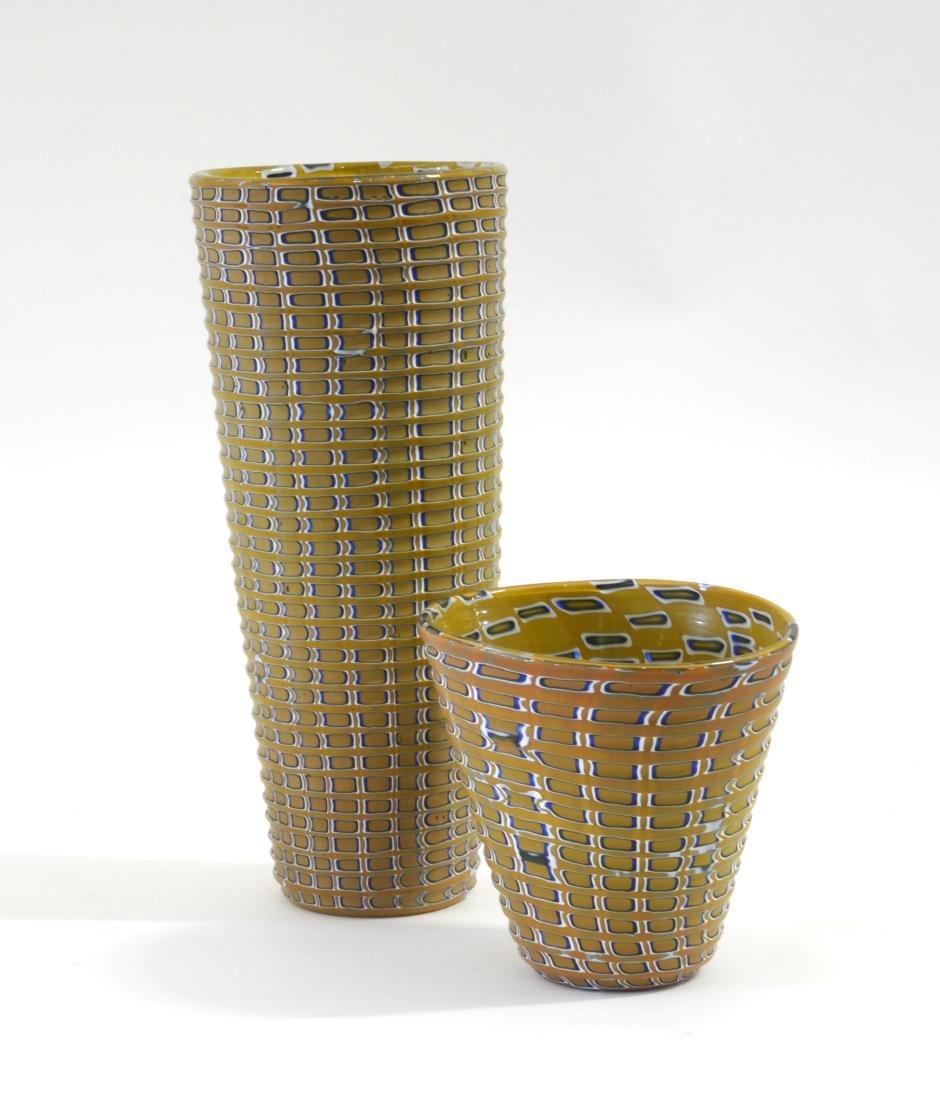 Massimiliano Pagnin Lotto di due vasi in vetro soffiato